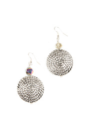 Shoptiques Product: Silver Rope Earrings
