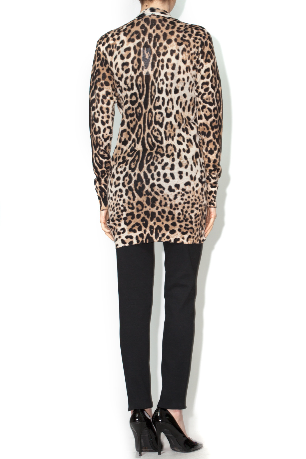 Ellison Leopard Cardigan - Side Cropped Image
