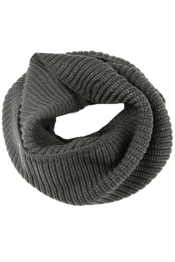 Shoptiques Product: Charcoal Infinity Scarf - main
