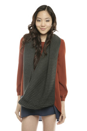 Shoptiques Product: Charcoal Infinity Scarf - Other