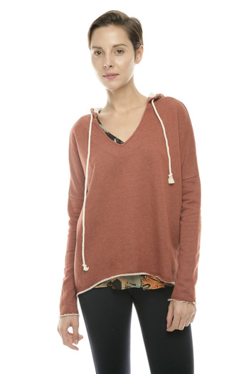 Shoptiques Product: Maroon Hoodie - main