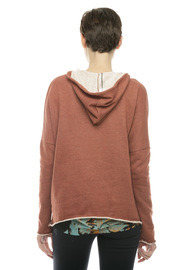 Ya Los Angeles Maroon Hoodie - Back cropped
