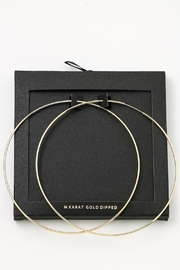 Secret Box 14k Gold-Dipped Hoops - Product Mini Image