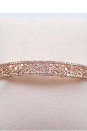Margolin & Co 14K Rose Gold 2.00 carat Diamond Bangle Bracelet Cuff Unique Filigree Bracelet - Product Mini Image