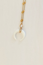 Jen Collection  14K Rose Gold Agate Small Pendant - Product Mini Image