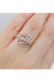 Margolin & Co 14K Rose Gold Diamond and Morganite Cocktail Bypass Ring Size 7.25 Beryl Gem FREE Sizing - Other