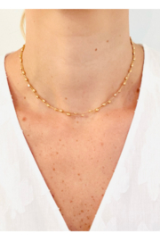 Jen Collection  14K Rose Gold Italian Diamonds by the Yard Chain 30in - Product Mini Image