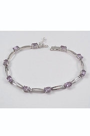 Margolin & Co 14K White Gold 5.50 ct Amethyst Tennis Bracelet 7