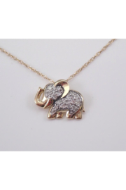 Margolin & Co 14K White Gold Diamond ELEPHANT Pendant Necklace Chain 18