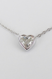 Margolin & Co 14K White Gold Heart Diamond Solitaire Pendant Necklace 17