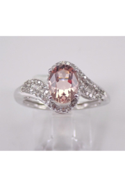 Margolin & Co 14K White Gold Morganite and Diamond Engagement Ring - Front cropped