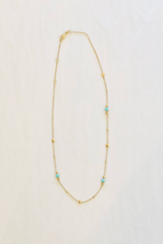 Jen Collection  14k Yellow Gold Turquoise Star Necklace - Product Mini Image