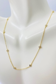 ... 14kt Yellow Gold Diamond Necklace - Product Mini Image