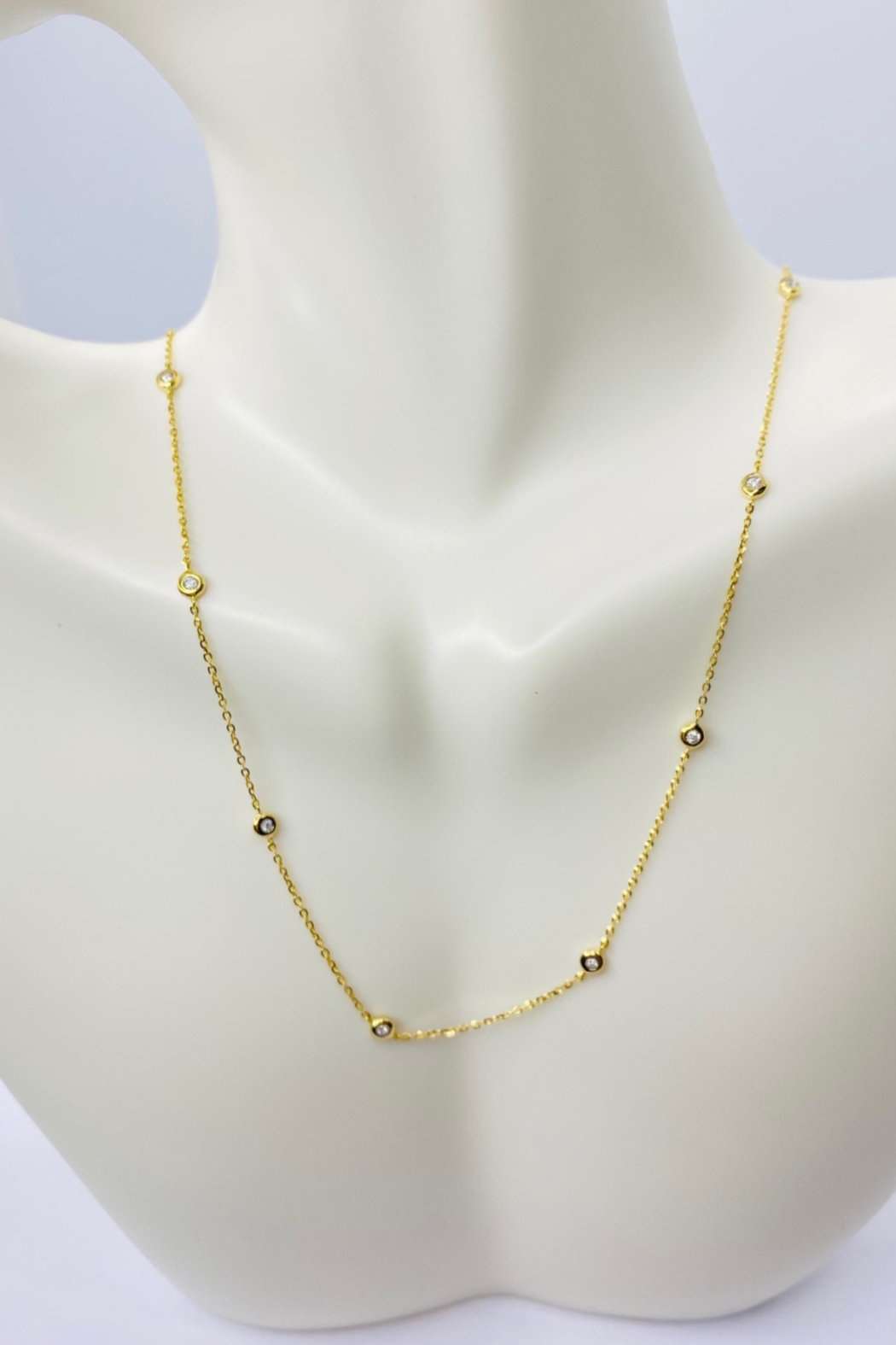... 14kt Yellow Gold Diamond Necklace - Front Full Image