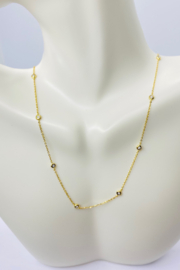 ... 14kt Yellow Gold Diamond Necklace - Front full body