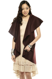 Shoptiques Product: Maroon Poncho Sweater Vest
