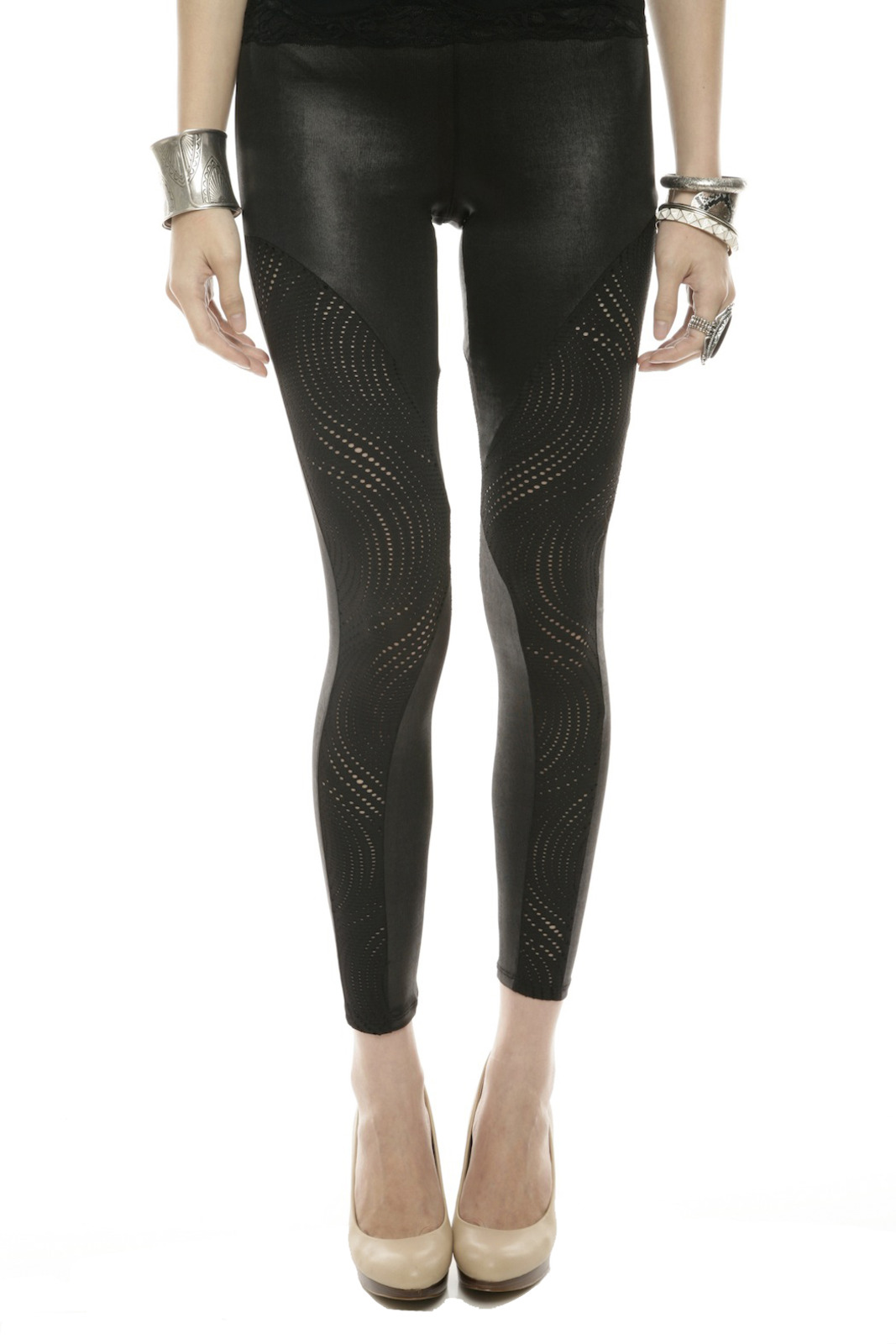 Mystree Circle-Cutout Leggings - Main Image