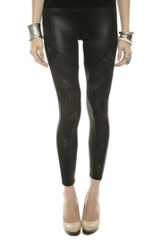 Mystree Circle-Cutout Leggings - Front cropped