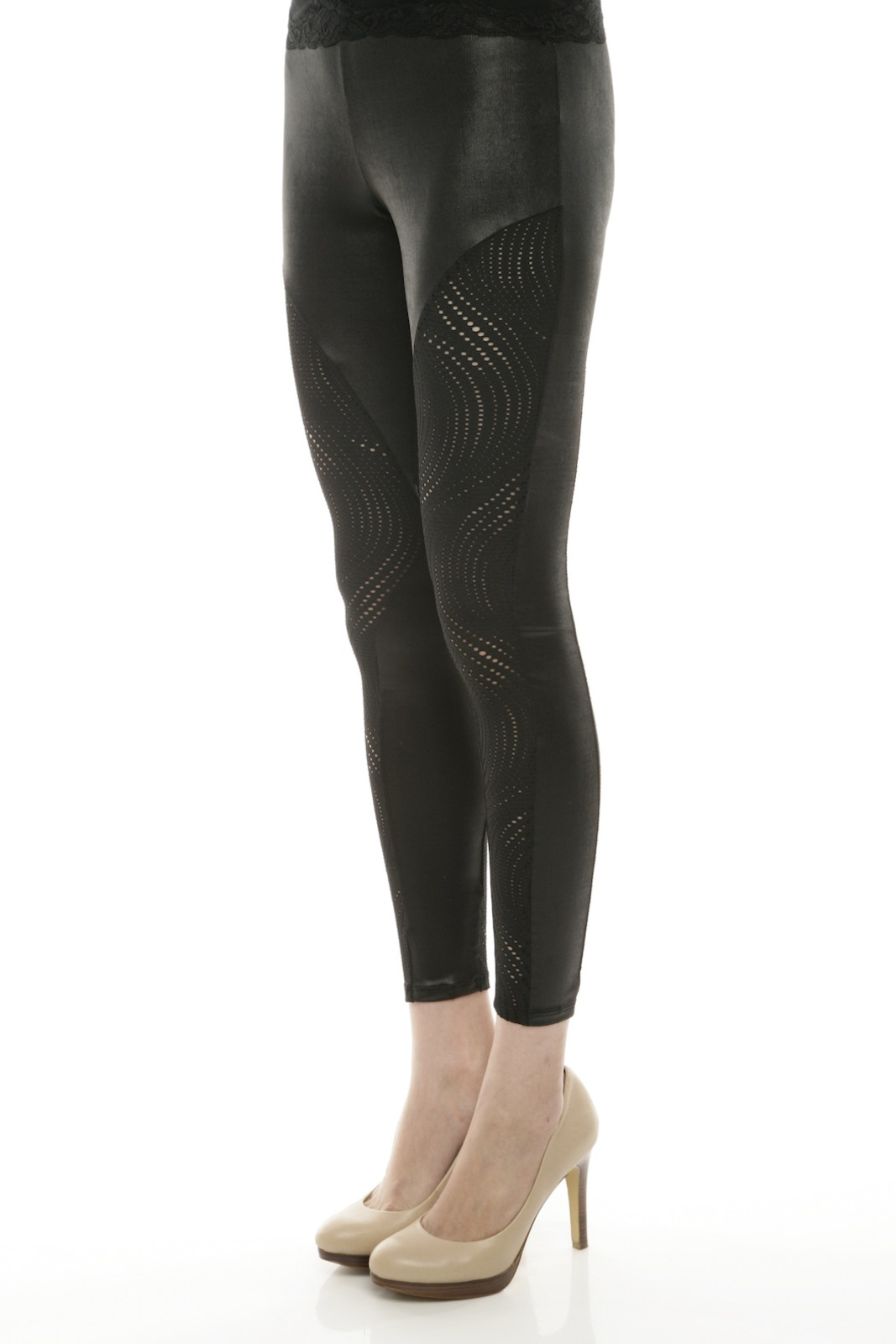 Mystree Circle-Cutout Leggings - Side Cropped Image