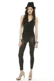 Mystree Circle-Cutout Leggings - Front full body
