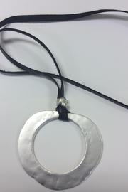 Zzan Long Silver Necklace - Front full body