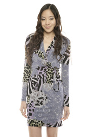 Shoptiques Product: Purple Animal Print Dress