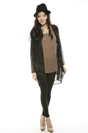 Shoptiques Product: Gold Frappe Cape - Front full body