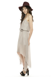 Kris Champagne Party Dress - Front full body