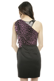 Shoptiques Product: One Shoulder Combo Dress - Back cropped