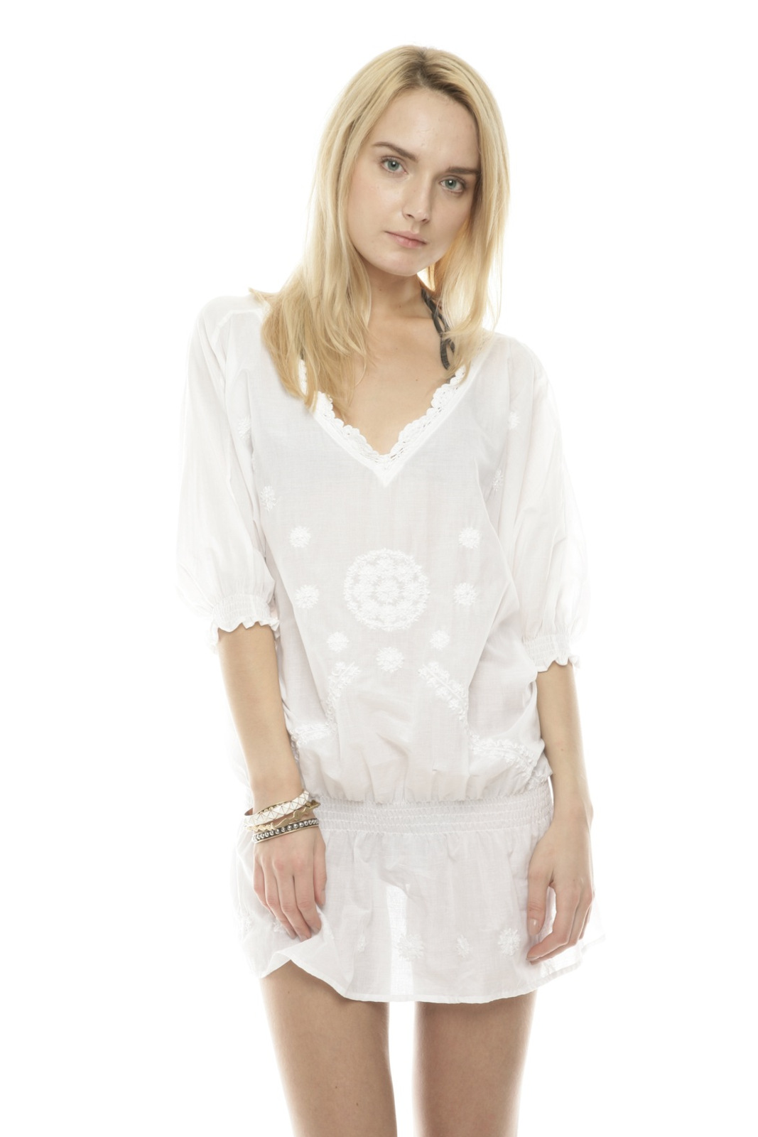Buy Figue Women's White Sophie Embroidered Cotton Tunic/Dress. Similar products also available. SALE now on!Price: $