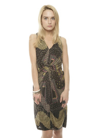 Conditions Apply Black Beaded Dress - Front cropped
