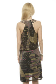 Conditions Apply Black Beaded Dress - Back cropped