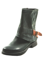 Shoptiques Product: Leather Buckle Booties
