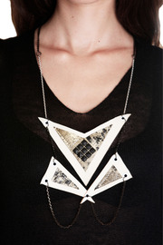 Shoptiques Product: Cream Tri- Lateral Necklace