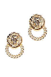 Shoptiques Product: Lion Knocker Earrings