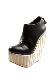 Shoptiques Product: Cream Platform Wedge Ankle Boot