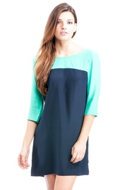 Shoptiques Product: Colorblock Short Sleeve Dress