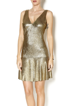 Sam & Lavi Metallic Gold Dress - Product List Image