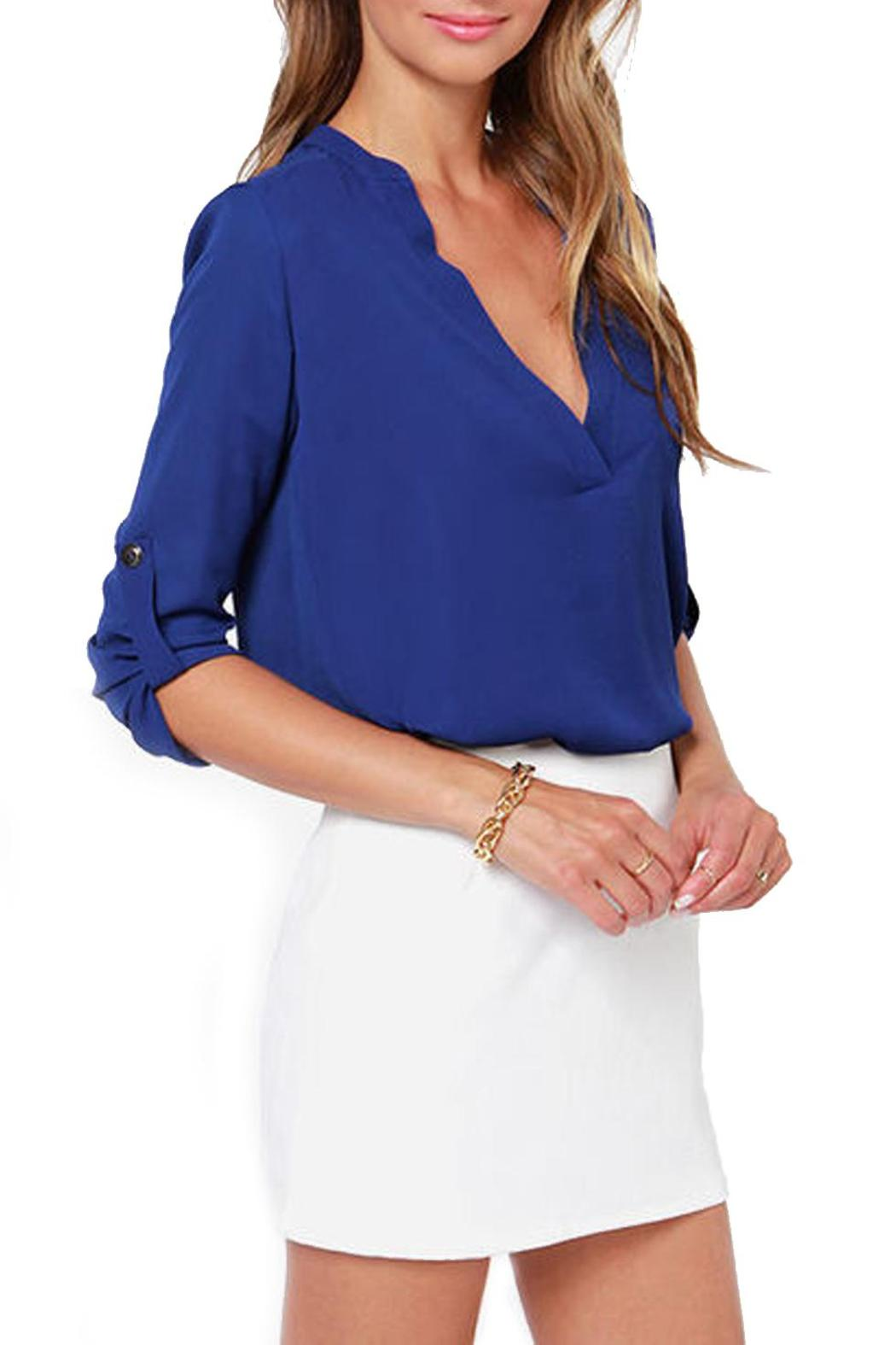 Lush Cobalt Blue Blouse from Seattle by SIMPLY CHIC — Shoptiques