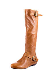 Shoptiques Product: Buckled Ankle Leather Boot