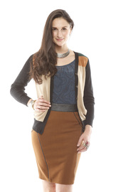 Shoptiques Product: Elbow Patch Color-Block Cardigan