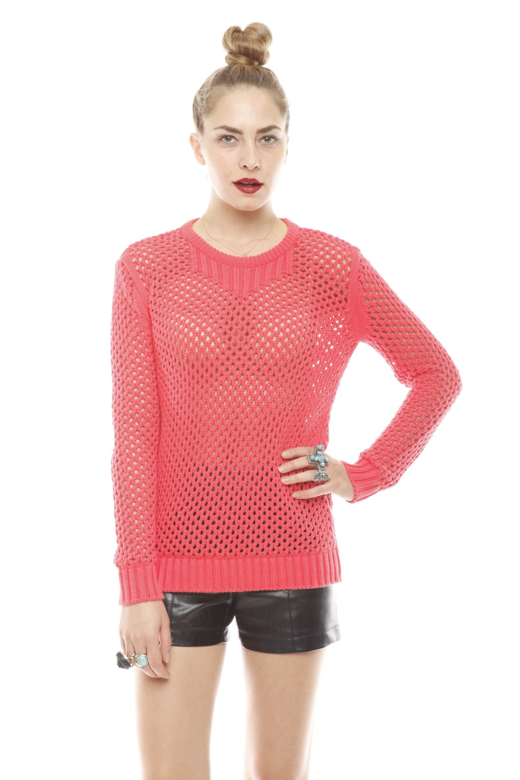 213 Industry Thick Open-Knit Sweater - Main Image
