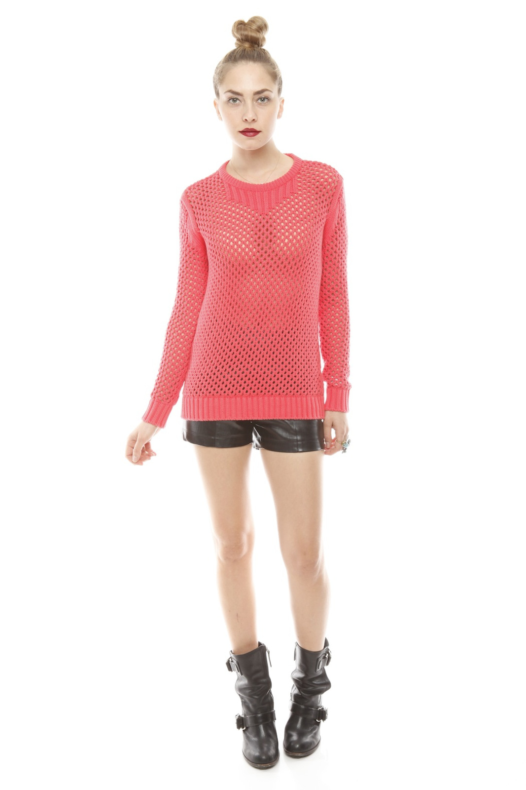 213 Industry Thick Open-Knit Sweater - Front Full Image
