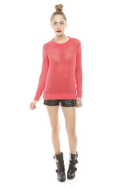 213 Industry Thick Open-Knit Sweater - Front full body