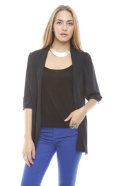 Shoptiques Product: Navy Pleated Open Cardigan