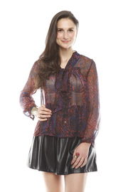 Shoptiques Product: Sheer Python-Print Shirt