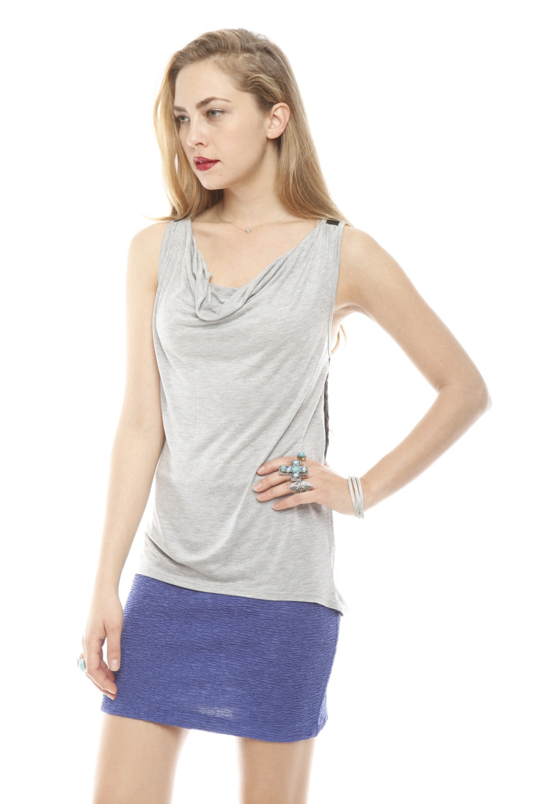 Woodleigh Crochet Back Tank - Side Cropped Image