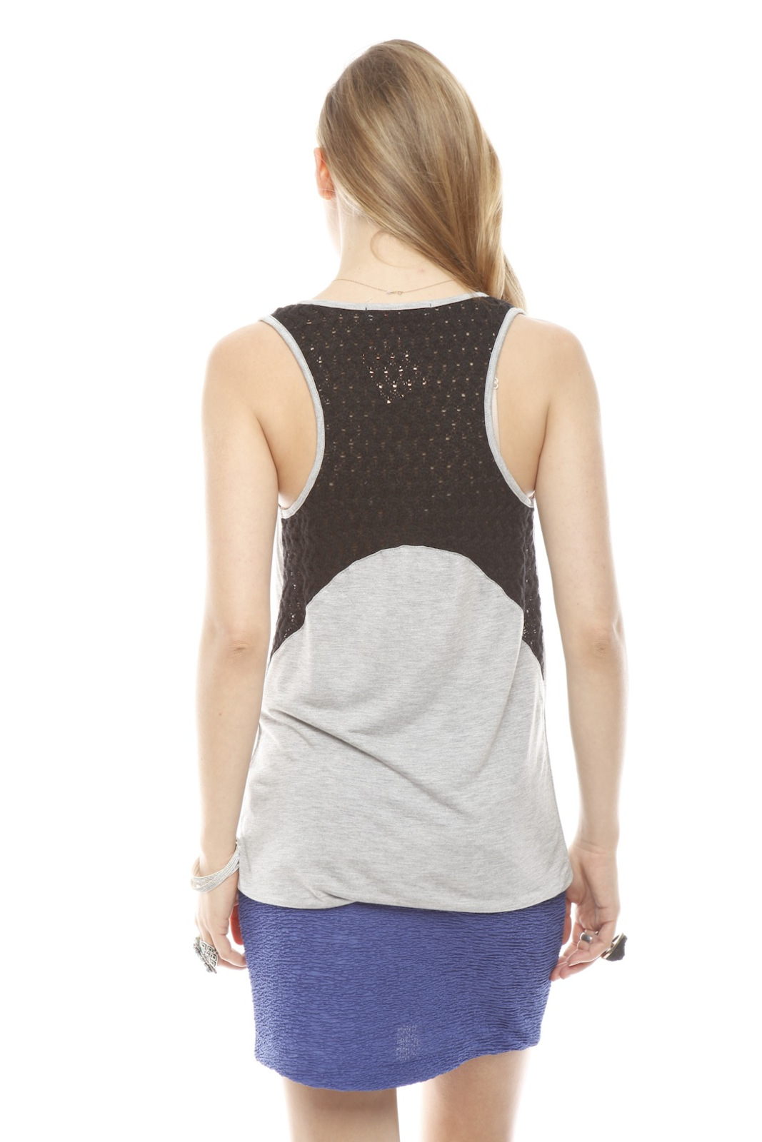 Woodleigh Crochet Back Tank - Back Cropped Image