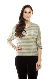 Shoptiques Product: Striped Tie-Dye Top