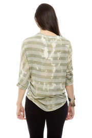 The Cue Striped Tie-Dye Top - Back cropped